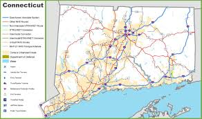 road map connecticut usa connecticut road map