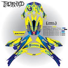 motocross helmet decals thorned shoei armored graphix