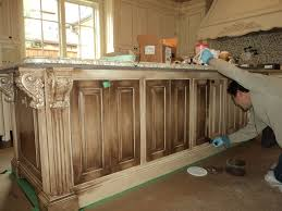 How To Paint And Glaze Kitchen Cabinets Awesome White Glazed Kitchen Cabinets Applying Antique Glaze