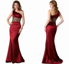 elegant burgundy mermaid prom dresses one shoulder sleeveless