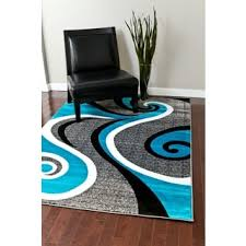 persian rugs modern trendz collection turquoise grey rug 5 u00272 x 7