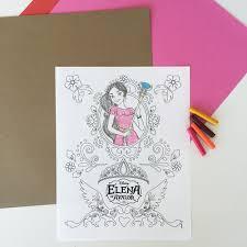elena avalor coloring disney jr birthdays princess