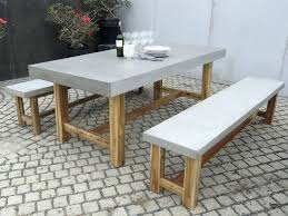 Concrete Patio Tables And Benches Concrete Patio Table And Benches Home Design Ideas And Pictures