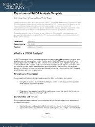departmental swot analysis template hr swot analysis
