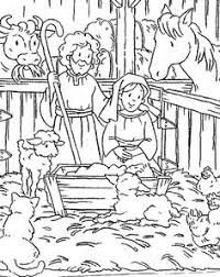 christmas story coloring pages christian