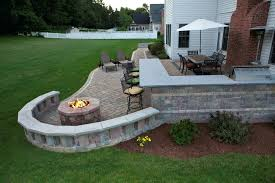Stone Patio With Fire Pit Patio Ideas Fire Pit Patio Area Designs Paver Fire Pit Designs