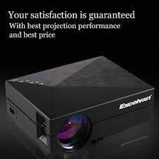 excelvan gm60 mini portable led projector for video games tv home