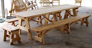 Picnic Table With Benches The Crossroads Workshop Mayesville Sc Tables