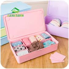 home storage boxes for underwear socks ties bra closet divider