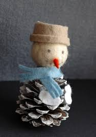 diy pine cone snowman angel gnome christmas