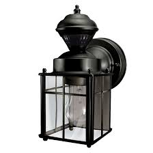 Motion Activated Outdoor Wall Light Wallmount Lantern With Motion Sensor Black Rona