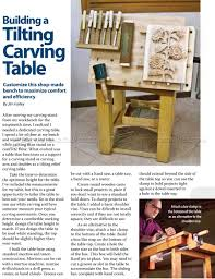 1155 tilting carving table plans wood carving whittling and