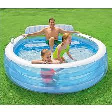 canapé gonflable piscine piscine gonflable aqua avec canapé 224x216x76cm