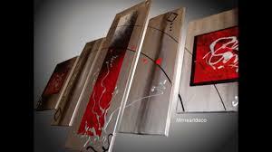 Tableau Abstrait Rouge Et Gris by Tableaux Abstraits Modernes Www Mimsartdeco Fr Youtube