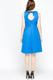 blue scuba skater dress just 5