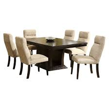 Extending Dining Room Table 7 Piece Navin Extendable Dining Set Deep Espresso Homelegance