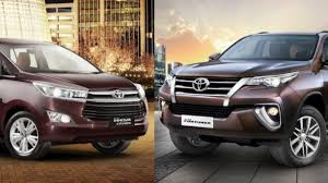 toyota innova toyota innova crysta fortuner hybrid models in pipeline for india
