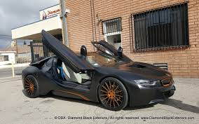 Bmw I8 Wrapped - project bmw i8 wrapped in satin black with matte copper metallic