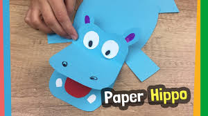 paper hippo craft idea easy to make diy for kids at home youtube