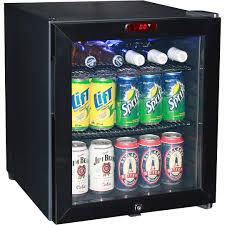 mini bar refrigerator glass door mini glass door bar fridge with led display internal fan and lock