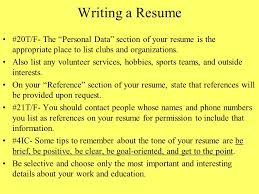 chapter 8 interviewing for a job and writing a resume ppt download