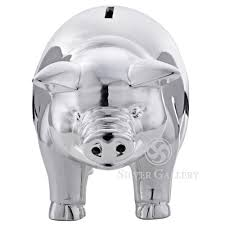 engraved piggy bank reed and barton classic silver piggy bank engraved piggy bank