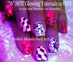 5 glowing nail art tutorials mix n match nails neon pink