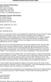 graduate nursing cover letter hospital nurse cover letter nurse