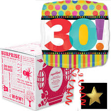 30th birthday delivery 30th birthday squarehead helium balloon box free delivery