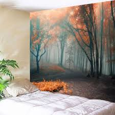 misty forest wall hanging tapestry for bedroom colormix w inch l misty forest wall hanging tapestry for bedroom colormix w51 inch l59 inch