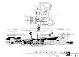 desert home plans mid century modern floor plans palm springs architectural