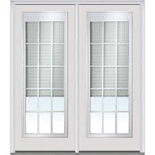 Window Coverings For Patio Door Shown Is A 15 Lite Grilles Between The Glass With Internal Blinds