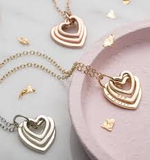 metal heart necklace images Personalised family names heart necklace by posh totty designs jpg
