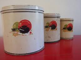 vintage metal kitchen canisters 274 best kick the can isters images on vintage