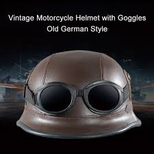 colorful lenses classic scooter motocross vintage motorcycle helmet with goggles old style protection shell