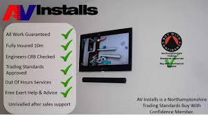 home cinema hidden cabling tv installation service uk youtube