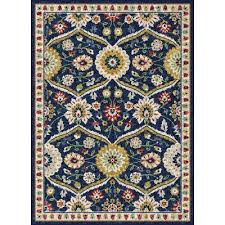 Teal And Gold Rug 8 X 10 Large Navy Blue Red U0026 Gold Area Rug Expressions Rc