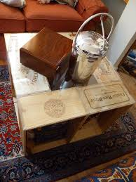wine crate coffee table easy diy coffee table from wine crates offbeat home life