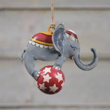 painted metal circus elephant ornament by homart seven colonial