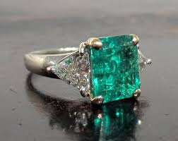 emerald engagement rings images Emerald engagement etsy jpg