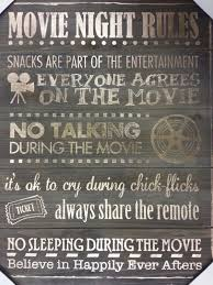 movie night rules home theater recreation tv room theatre wooden