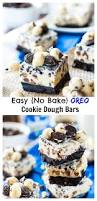 no bake oreo cookie dough bars mariah u0027s pleasing plates