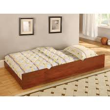 Trundle Bed Shop Furniture Of America Omnus Oak Trundle Bed At Lowes Com