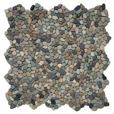 Lowes Pebble Rocks by Shop Solistone Micro Pebbles 10 Pack Cayman Blue Pebble Mosaic