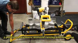 Table Saw Stand With Wheels Dewalt Miter Saw Stand Youtube