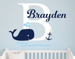 Etsy Wall Decals Nursery Whale Wall Decal Etsy