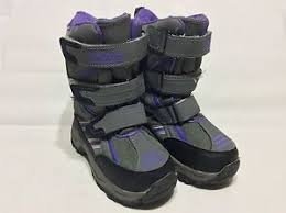 s totes boots size 12 totes winter boots gray purple size 12