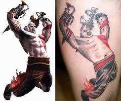 that a prison tat awful god of war kratos tattoo geekologie