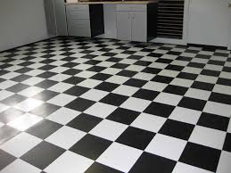 black and white tile floor
