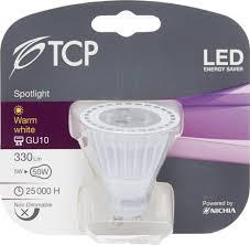 tcp 5w gu10 led bulb warm white 330lm u003d30w halogen u2013 allcam